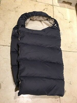 Stokke 100% Down & Feather Sleeping Bag In Navy Blue, Immaculate