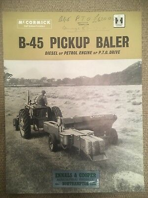 mccormick international B-45 Picker Baler Brochure