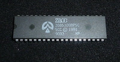 Zilog Z0853008PSC / Z8530 Serial Communication Controller (SCC) 8MHz DIP-40