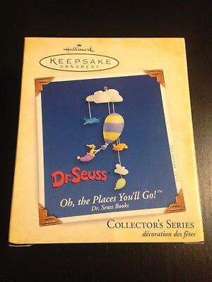 Dr Seuss 2005 Hallmark Ornament Oh The Places You'll Go New In Box The Grinch