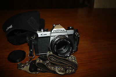 Asahi Pentax K1000 Camera with K-Series 50mm 1.4 Lens- Excellent