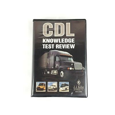 JJ Keller CDL Knowledge Test Review 2 Disc Set DVD With Study Guide