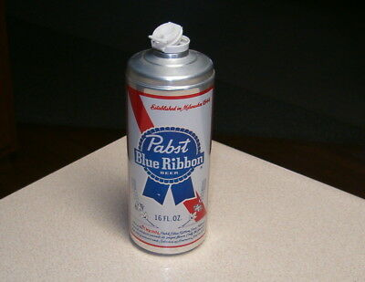 """PABST BLUE RIBBON 16oz ALUMINUM BOTTLE CAN """"TEST"""" ON UPC LABEL. VERY TOUGH"""
