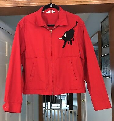 Vintage Boy Scouts of America Official Red Jacket, 1950s Scout Leader, Bull XL