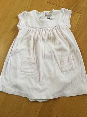 Petit Bateau Cotton Pink Dress/nightdress With Bodysuit Attached 24mths