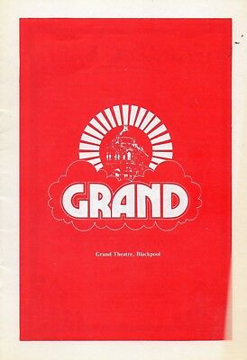 Blackpool Grand Theatre 1981 'a Murder Is Announced' Peter Byrne Programme.