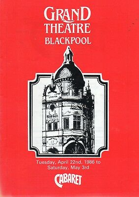 Blackpool Grand Theatre 1986 'cabaret' Wayne Sleep Programme.