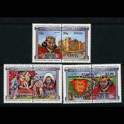 ST KITTS NEVIS 1984 British Monarchs. SG 231-236. Mint Never Hinged. (AX185)