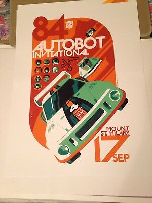 "TOM WHALEN ""AUTOBOT INVITATIONAL"" limited edition print 2013"