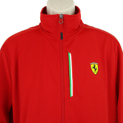 Puma Ferrari Jacket Mens Size Large L Red Scuderia Formula One 1 Racing Track