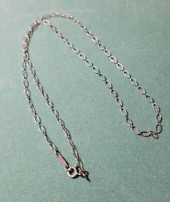"""Tiffany & Co. Sterling Silver Oval Chain Link Necklace 18"""" Signed"""