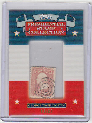 2008 Topps Präsidenten Briefmarkensammlung #/90 George Washington GW6 Briefmarke