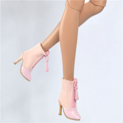Pink shoes For Fashion royalty FR2 poppy parker doll DG momoko boots 15-FR2-3