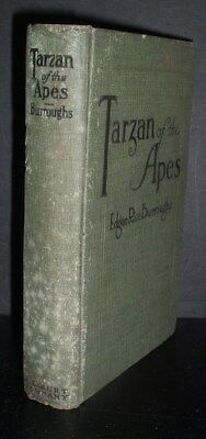 RARE antique 1914 hb.   TARZAN OF THE APES by edgar rice burroughs