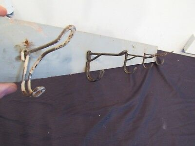 Antique Style Wooden Wall Mount Coat Rack Hat Hook Primitive Farmhouse Decor