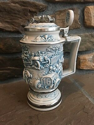 """Avon Collectible Stein """"Racing Car"""" 1989 handcrafted in Brazil"""