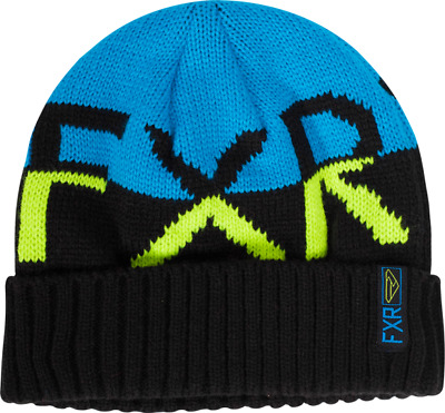 FXR ACTIVE BEANIE CAP HAT - Blue / HiVis / Black  -  ONE SIZE - GREAT GIFT!