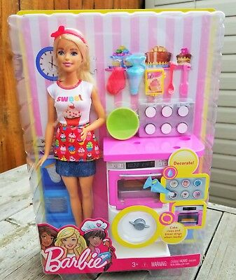 Barbie Baker Doll Play Set - You Can Be Anything Barbie - NIB !!!