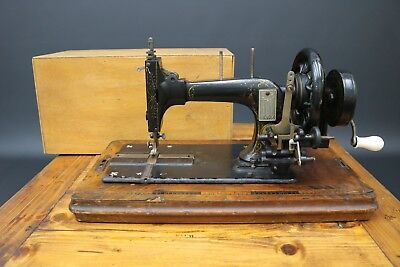 Vintage Frister Rossmann Hand Crank Sewing Machine Mother of Pearl Victorian