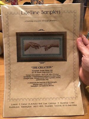 Lifetime Samplers - The Creation Cross Stitch 12.7x6""