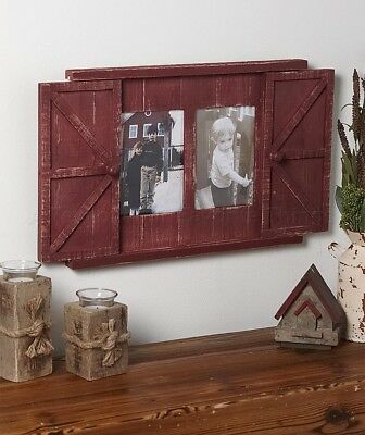 Country Red Rustic Barn Door Photo Picture Frame Wall Art Farmhouse Home Decor