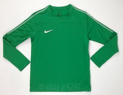 New Nike Youth Unisex M Park18 Crew LS Soccer Futbol Top Shirt Green AA2089 $45
