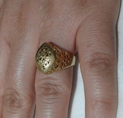 EXTREMELY Ancient VIKING BRONZE RING museum quality ARTIFACT VERY AMAZING