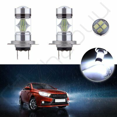 High Power H7 6000K Cree LED 12SMD DRL Car Replacement New 30W Driving Light