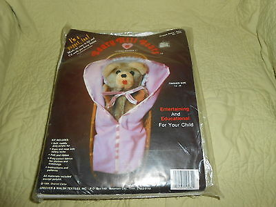 New Vintage 1984 Beary Hill Bears *Baby Bear* Plush Toy & Puppet Kit
