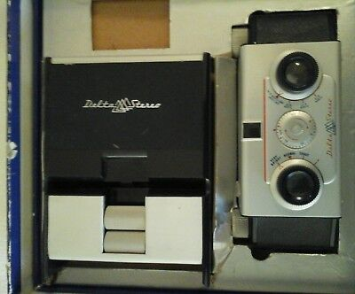Delta Stereo Camera & Viewer Original box + instruction manuals 1955 UNTESTED