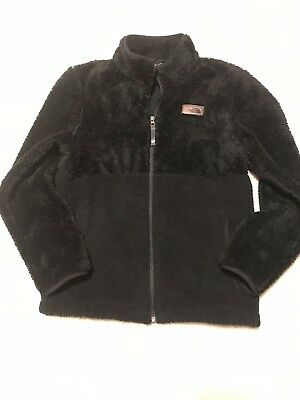 The North Face Boys jacket Coat Large 14 16 Black Fuzzy Furry Warm *steal!