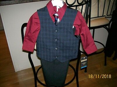 Nwt Boys Sz 24 Month 4 Piece Dockers Dress Suit Adorable