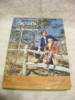 Vintage Fall Winter 1975 Sears Roebuck Catalog,Midwest,Leisure Suits,Retro 70s