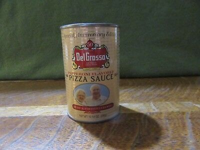 Vintage DelGrosso 10 1/4 Ounce Pizza Sauce Can COIN BANK-Nice Condition-HTF!!