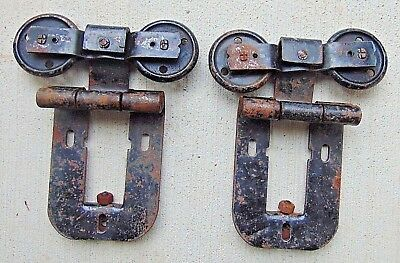 Pair of Antique Barn Door Rollers, Hangers Vintage