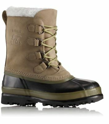 NEW Sorel Men's Caribou Boot SAGE BLACK rated -40 degrees F Waterproof Size 14