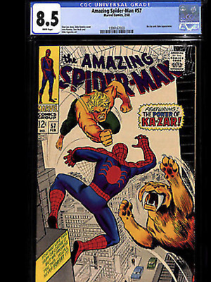 """Amazing Spiderman 57 CGC 8.5 with """"White Pages"""""""