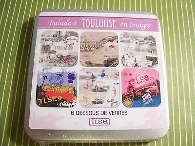 New Photo Drink Coasters Toulouse France Souvenir French Pictures Set of 6