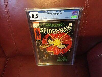 """Amazing Spiderman 72 CGC 8.5 with """"White Pages"""""""