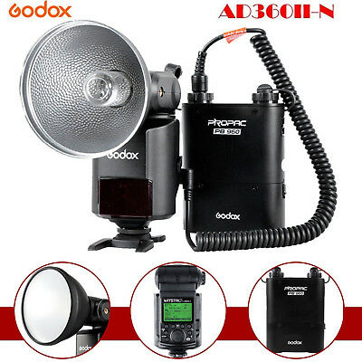 Godox AD360II-N Flash TTL 1 / 8000S 360W Speedlight Flash + PB960 Battery For Ni