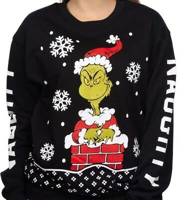Grinch light up holiday Christmas sweatshirt crew junior/woman's sizes Christmas