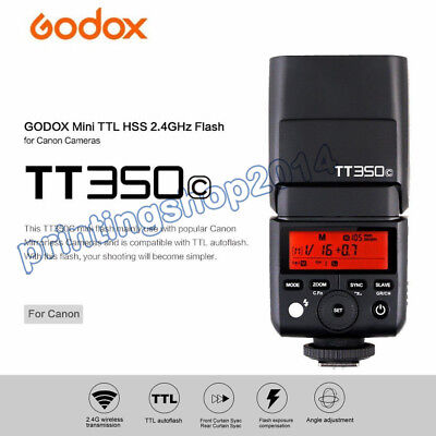 Godox TT350C Flash Mini HSS 2.4G TTL GN36 Camera Speedlite Speedlight for Canon