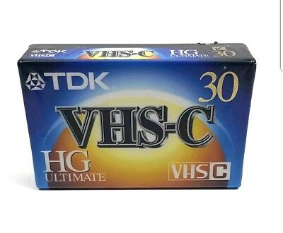 New Tdk Hg Ultimate Vhs-C 30 Minute Blank Video Tape Tc-30Hg
