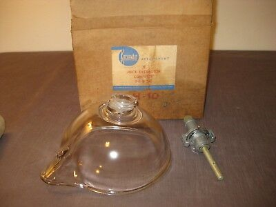Vintage Kitchenaid Je 3-B & 3-C Glass Juicer Attachment In Original Box!