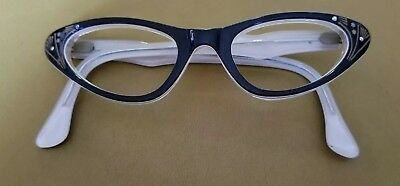 Vintage CAT EYE Glasses Horn Rim No Lenses Frames