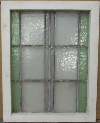 "MID SIZED OLD ENGLISH LEADED STAINED GLASS WINDOW Simple Stripes 17.75"" x 22.75"""