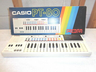 CASIO PT-80 Electronic Musical Instrument Keyboard & ROM Pack RO-551 & Box