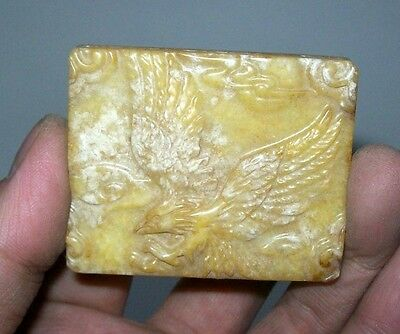 Chinese Jade Pendant with Hawk