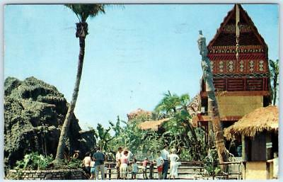 SANTA MONICA, California CA   Pacific Ocean Park  SOUTH SEA ISLAND 1960 Postcard
