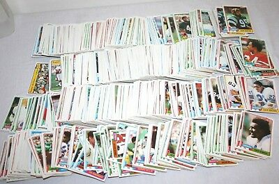 Lot Over 1000 1981 Topps Vintage Football Cards Commons Some Duplicates HUGE